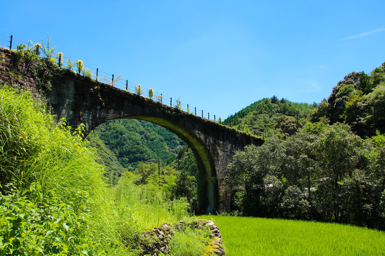 下津井めがね橋|四万十町のトロッコ列車軌道橋(森林鉄道)